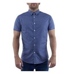 Stallion Blue Printed Shirt