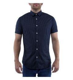 Dark Navy Printed Shirt
