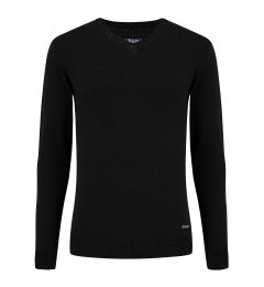 V Neck Black Jumper