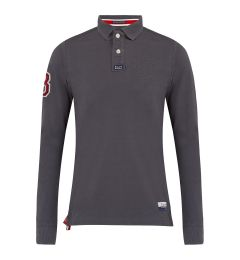 Embossed Dark Grey Polo Shirts