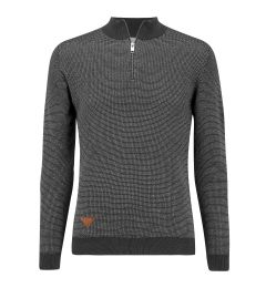 Zip Neck Dark Grey Jumper