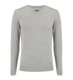 V Neck Light Grey Jumper