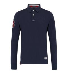 Embossed Navy Polo Shirts