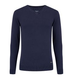 V Neck Navy Jumper