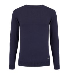 Round Neck Navy Jumper