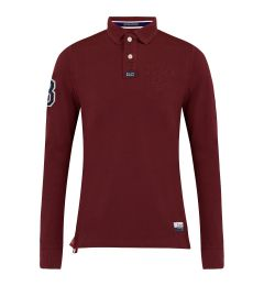 Embossed Wine Polo Shirts