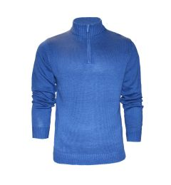 Blue Zip Neck Jumper