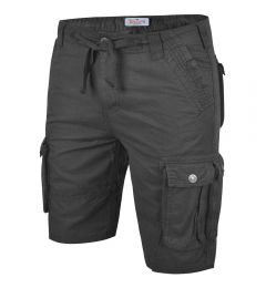 Mens Cargo Shorts-Dark Grey-30