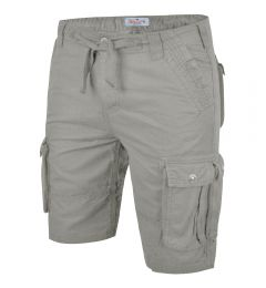 Mens Cargo Shorts-Light Grey-30