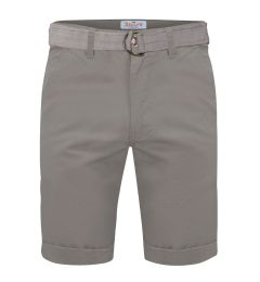 Belted Chino Shorts-Light Grey-30