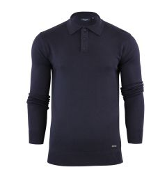 Stallion Navy Knitted Polo
