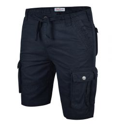 Mens Cargo Shorts-Navy-30